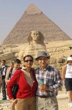 صنم و بابک در کنار اهرام/ عکس از اورکات